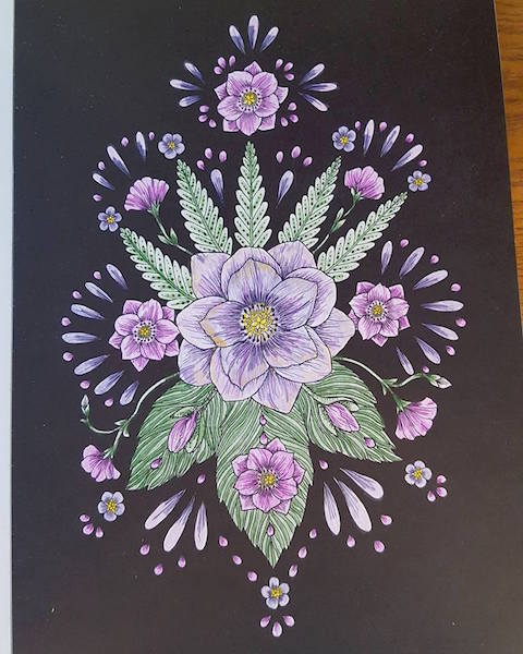 Blomstermandala Michelle Byrne