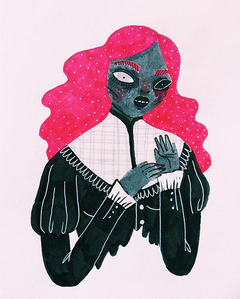 sonia-lazo-drawlloween-phantom-friday